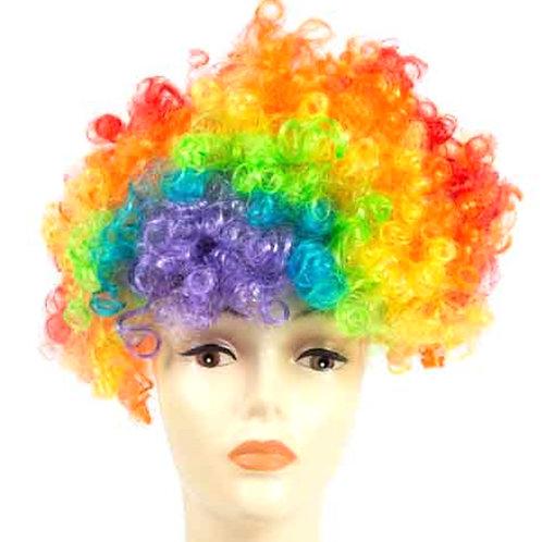 Rainbow Curly Clown Wig