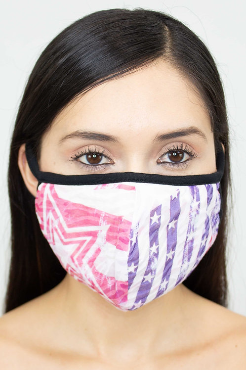 American Flag Face Mask-Purple