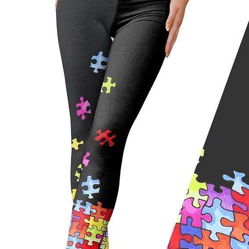 Autism Puzzle Leggings
