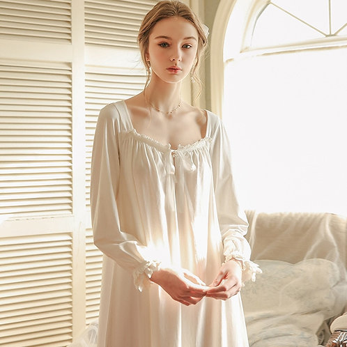 Historic Classic Long Sleeve Chemise Nightgown