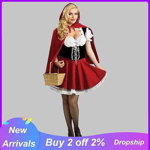 Adult Mini Red Riding Hood Costume Dress