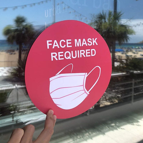 Face Mask Required Decal Sign