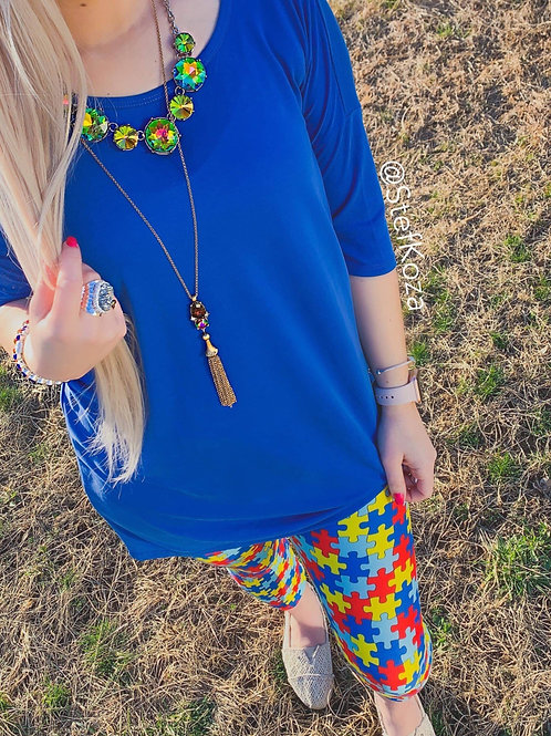 Autism Full Puzzle Piece Leggings - RTS
