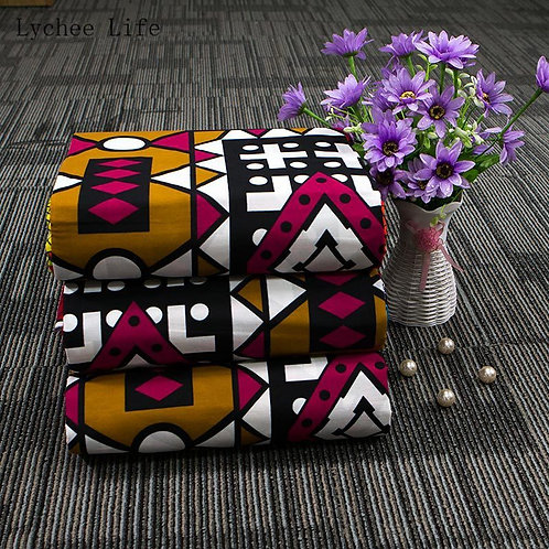 Lychee Life Cute Cartoon Printed African Fabric