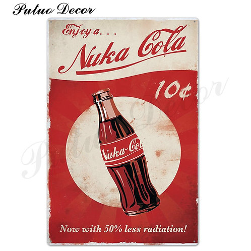 Nuka Cola Metal Sign Vintage Tin Sign