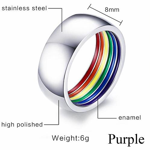 Rainbow Pride Stainless Steel Ring