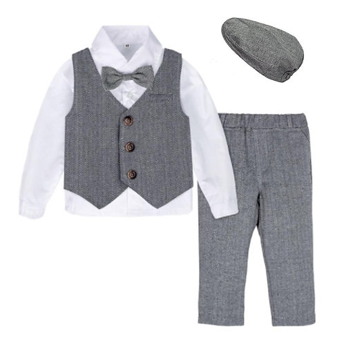 """Great Gatsby"" Baby Formal Costume Suit Set"