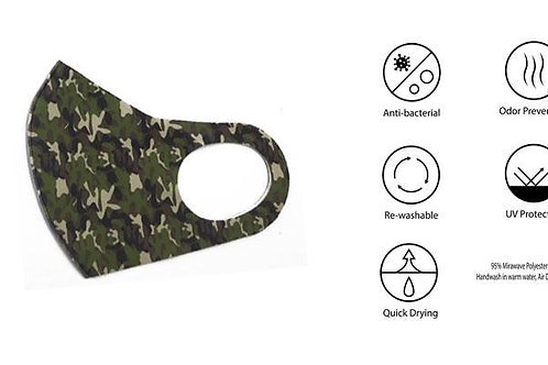 Camo 2/Pk Anti-Bacterial Face-Mask