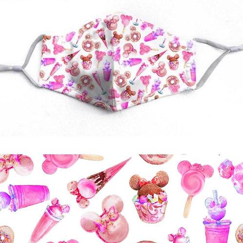 Pink Park Treats Face-Mask - RTS