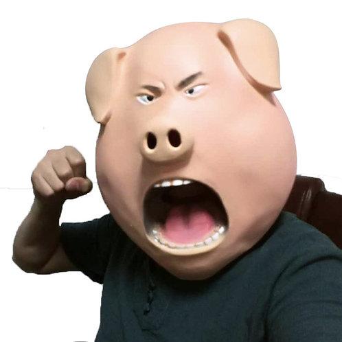 Adult Latex Angry Pig Mask