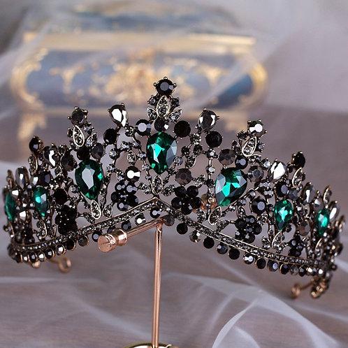 European Crystal Baroque Tiara
