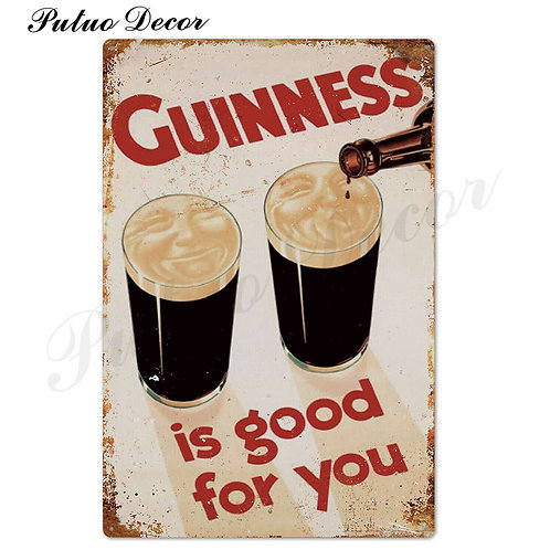 Guinness Vintage Metal Signs