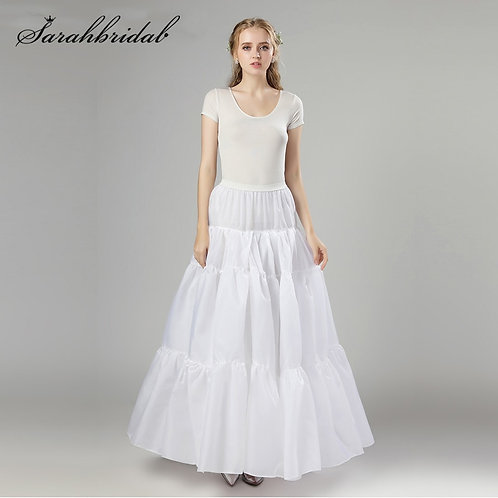 Adult White Long Organza Petticoat