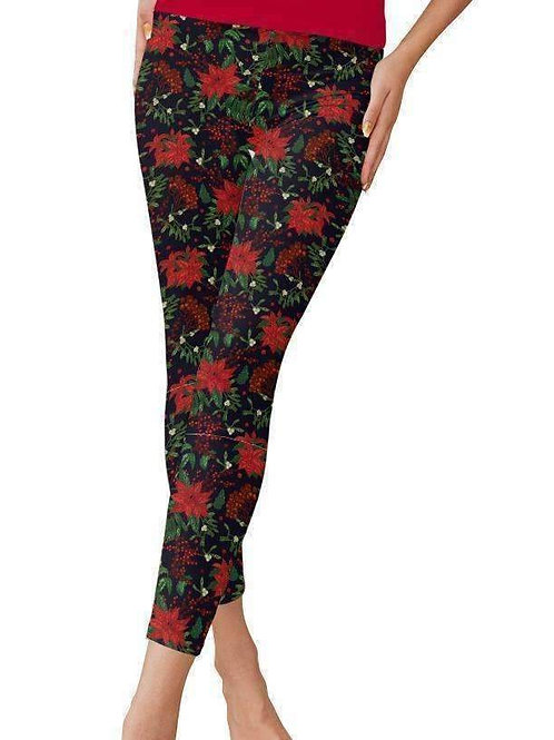 Poinsetta Leggings - HOLIDAY SPECIAL
