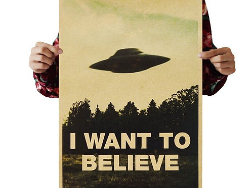 I Want to Believe UFO Vintage Classic Poster