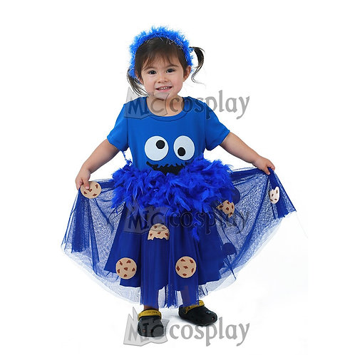 Youth Blue Cookie Costume Dress