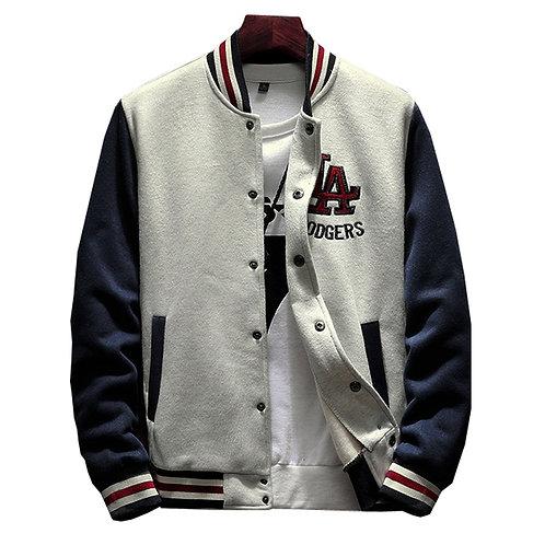 Retro Single Breasted Varsity Jacket