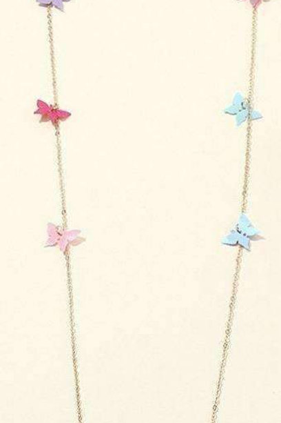 Cute Butterflies Face-Mask Necklace / Lanyard