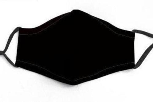 Solid Black 2/Pk Face Mask