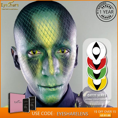 1 Pair Reptile Eye Novelty Contact Lenses