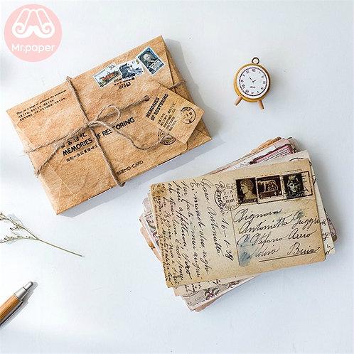 Mr.Paper 30pcs/Box Retro Memories of Restoring Postcard