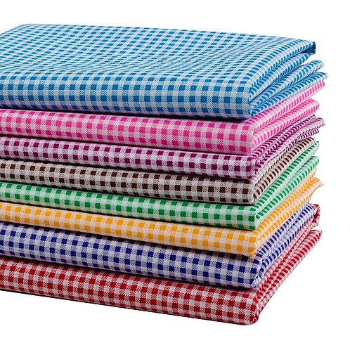 Cheap Fabric Printed Plaid Polyester Patchwork Fabric