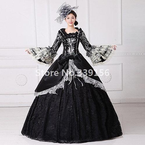 Rococo Black Ball Gown