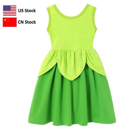 Youth Tinker Bell Jersey Knit Dress