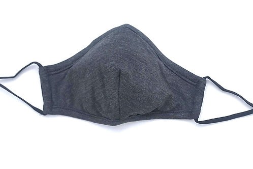 Bamboo Heather Gray Soft Breathable Face Mask