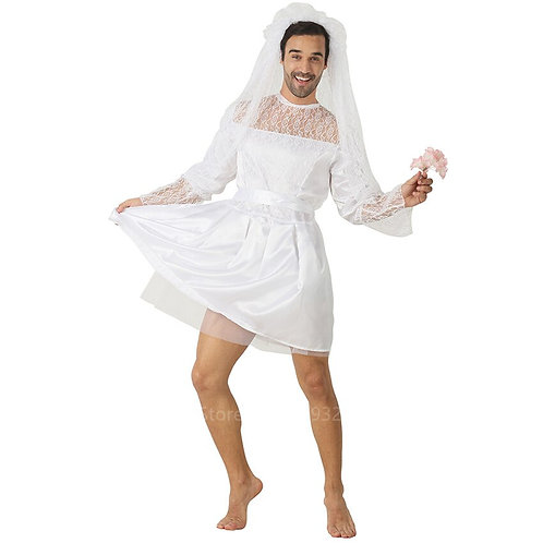 Adult Silly Bride Mini Dress Costume