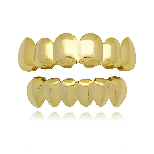Gold or Silver Teeth Top & Bottom Mouthpieces