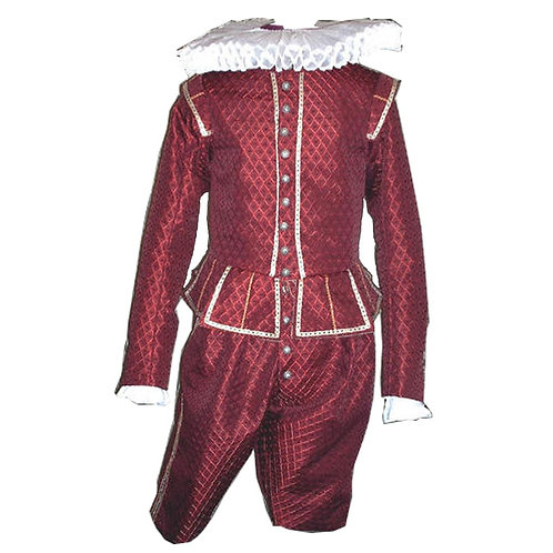 Red Tudor Court Outfit