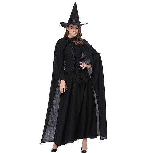 Classic Witch Costume With Cape