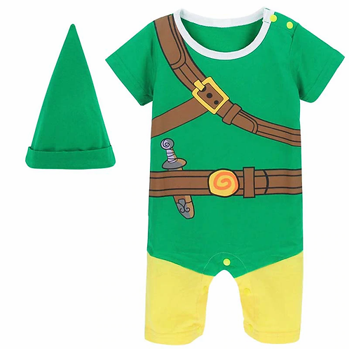 """Baby """"Zelda"""" Link Romper Costume"""
