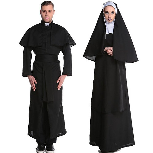 Priest & Nun Missionary Cosplay Costumes