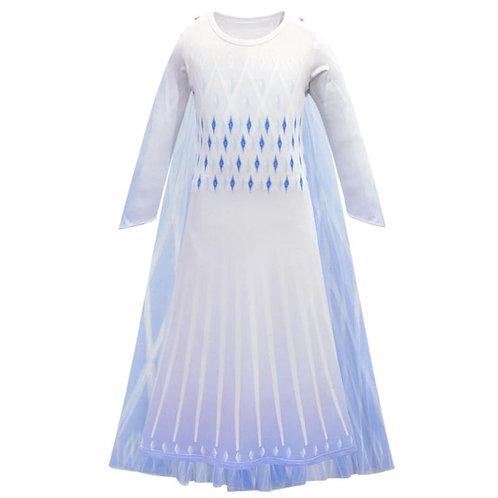 """Frozen 2"" Elsa Caped Ice Gown"