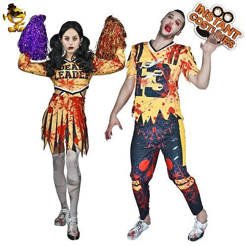 Zombie Cheerleader & Football Player Costumes