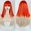 Thumbnail: FEELSI Long Straight Wig With Bangs