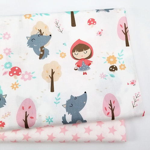 100% Cotton Fabric Printed Baby Girl Cotton Twill Cloth