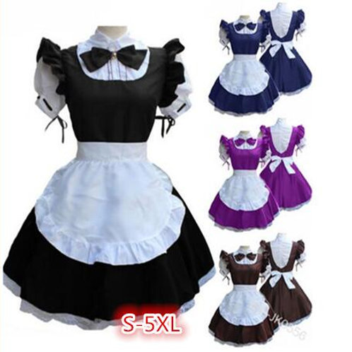 Short Sleeve Lolita Style Maid Dress