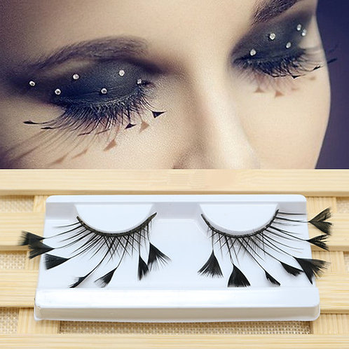 1 Pair Novelty Feather False Eyelashes