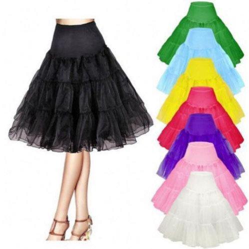 Retro Knee Length Crinoline Petticoat