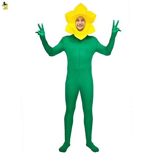 Adult Daffodil Zentai Costume Suit