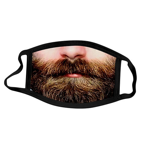 Beard Faces Novelty Face Mask