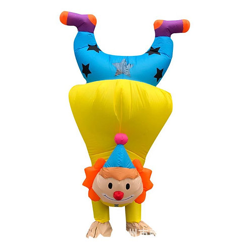 Adult Inflatable Handstand Clown Costume