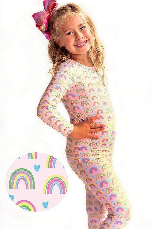 Rainbow Hearts Kids Lounge Set
