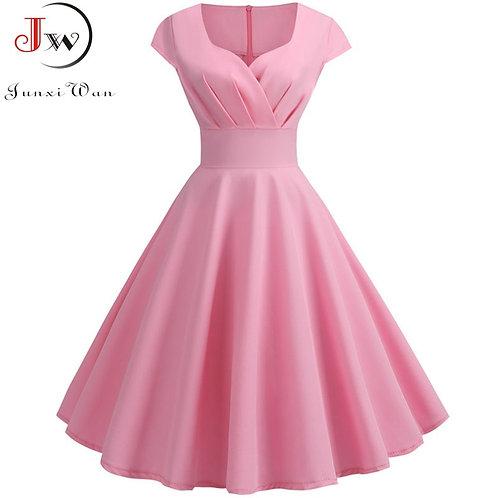 """""""Savannah"""" Retro Cap Sleeve Swing Dress"""