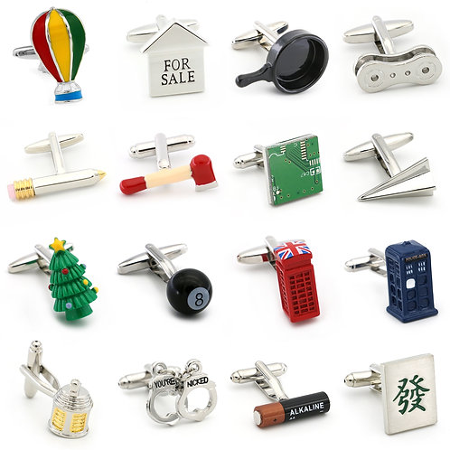 Men's Novelty Cufflinks 28 Styles Option Quality
