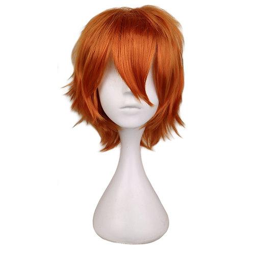 Short Shaggy Deep Orange Costume Cosplay Wig