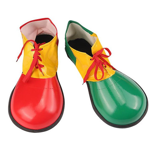 Funny Colorful Faux Leather Clown Shoes